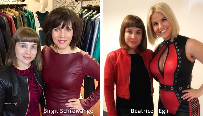 Beatrice Egli und Birgit Schrowange_Cuir Royal_Slider
